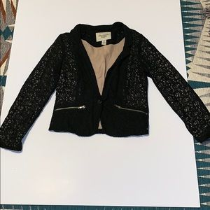 Jackets & Blazers - Black lacy blazer. Sized as medium-fits like small